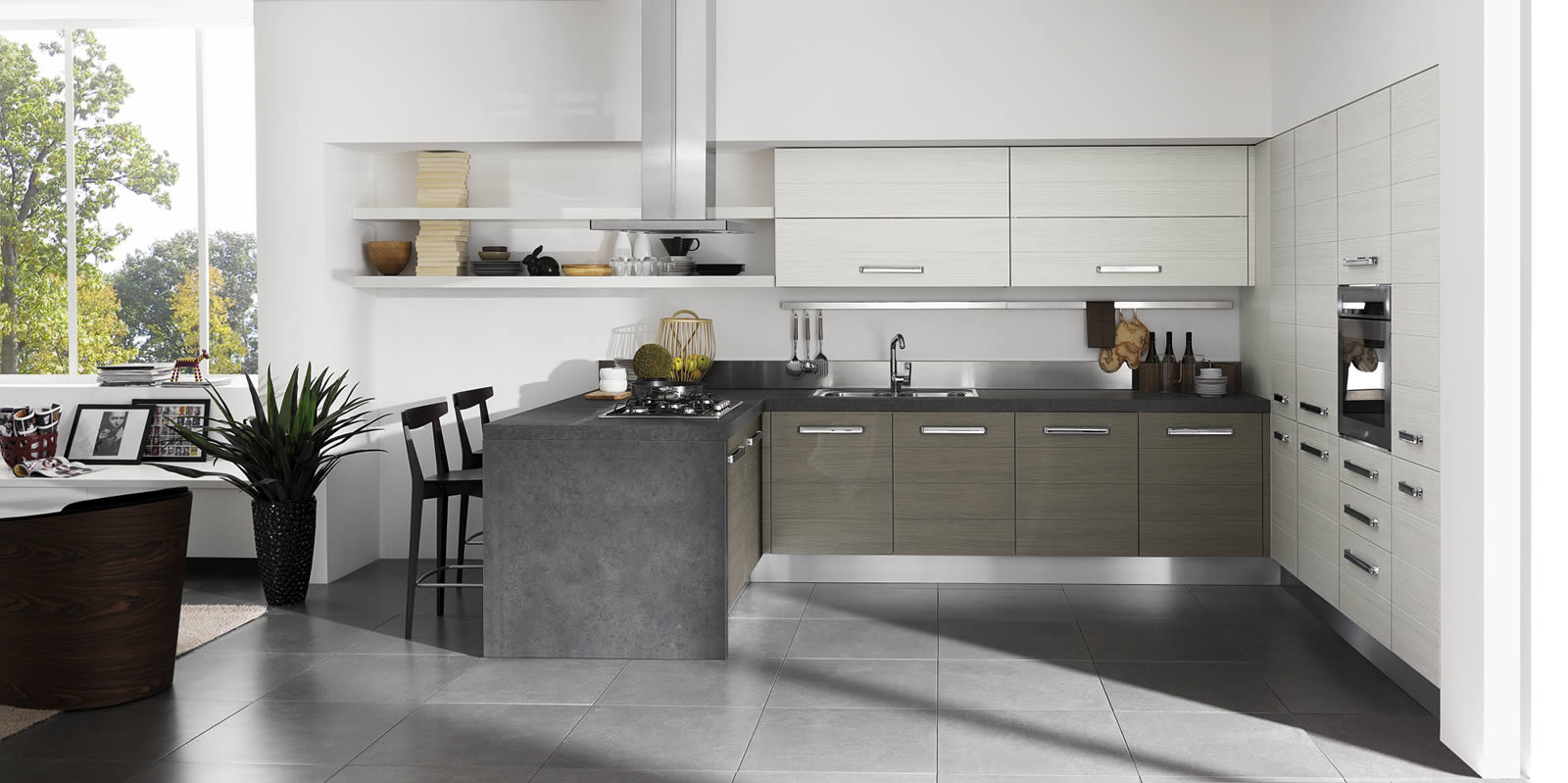 Doga colours aran kuhinje for Cucine moderne con penisola